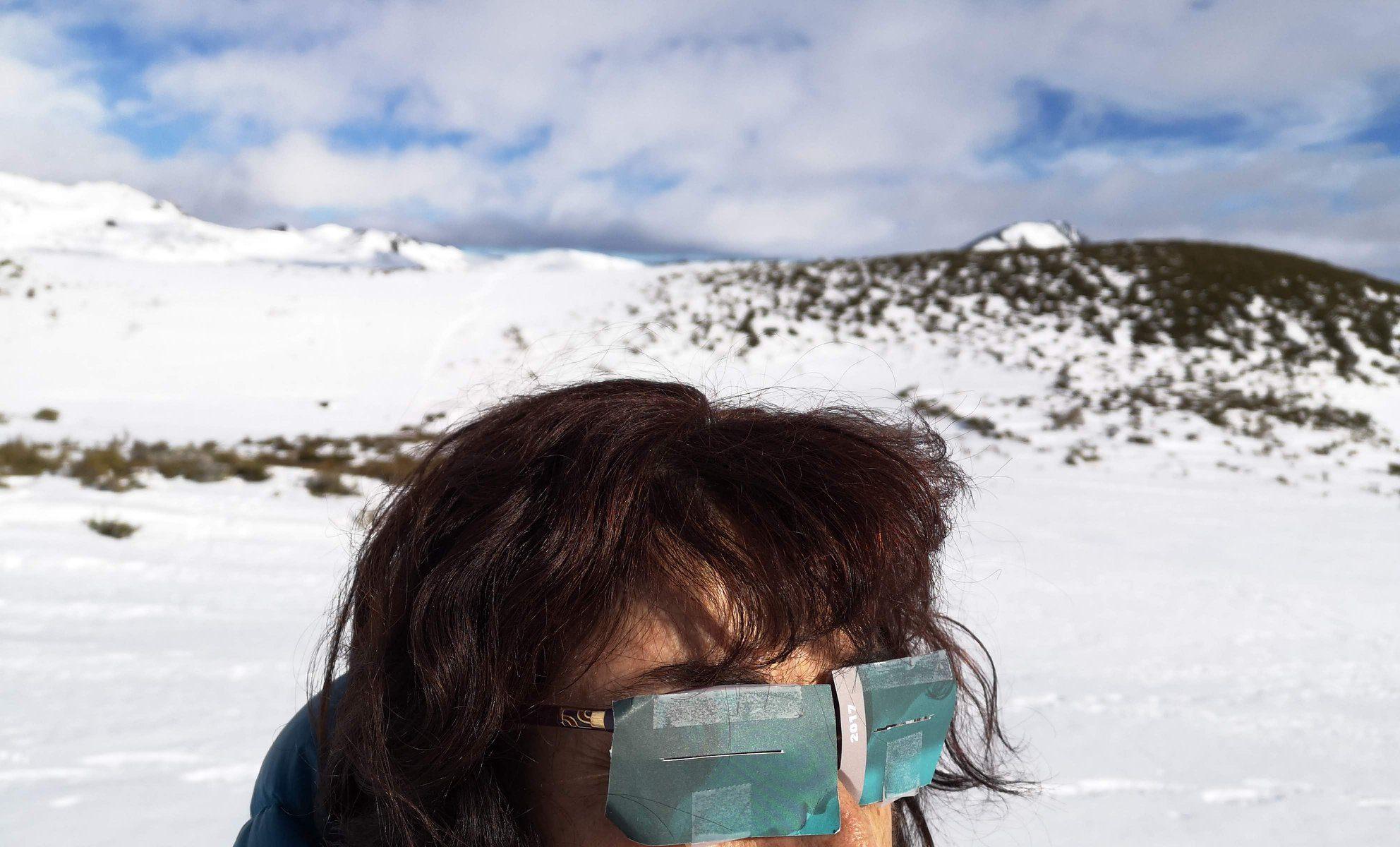 Gafas de emergencia - remedio esquimal