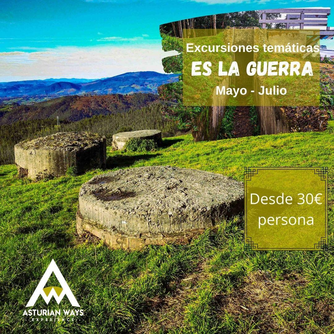 """Excursiones """"Es la guerra"""" Escenarios de la guerra civil en Asturias"""
