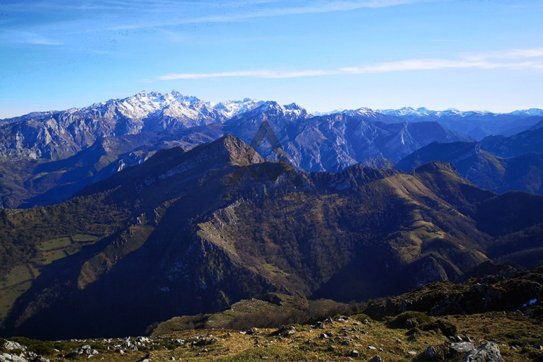Picos de Europa, viewed from the mountains in the nearby