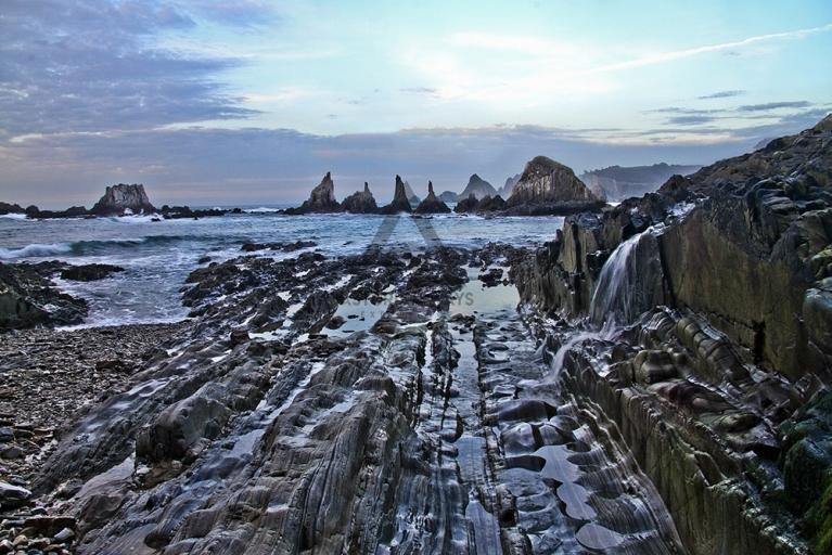 Beaches and cliffs on the asturian west coast